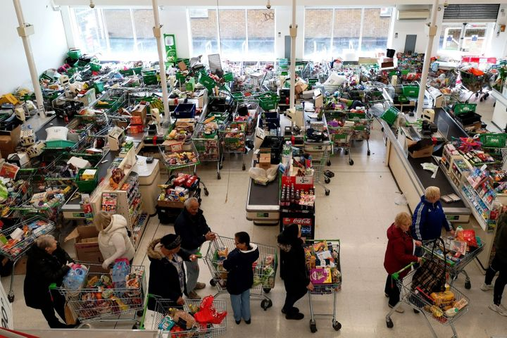 Supermarkets have been overwhelmed with unprecedented demand amid the coronavirus crisis.