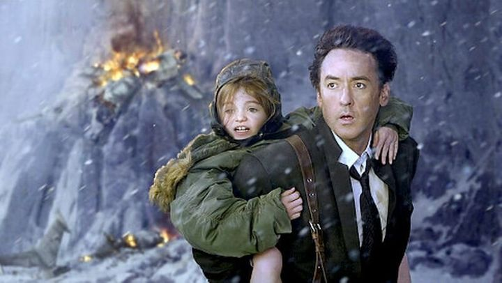 "Morgan Lily and John Cusack in ""2012."""