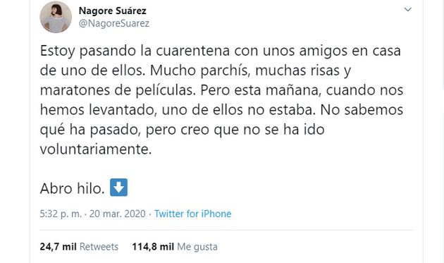 El tuit de Nagore