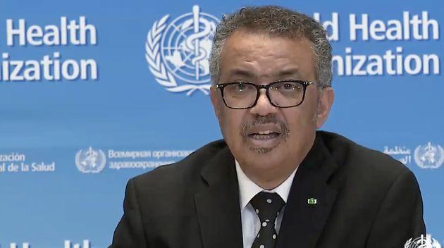 Le directeur général de l'OMS, Tedros Adhanom Ghebreyesus, ici ce 23 mars, a mis en garde contre l'usage...