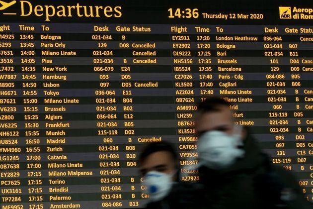 Εως 15 Απριλίου καμία αεροπορική σύνδεση με Τουρκία, Ηνωμένο Βασίλειο, Ισπανία και