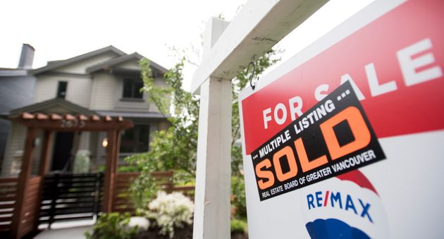 A real estate sign is pictured in Vancouver on June 12,