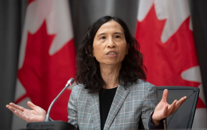 Chief Public Health Officer Theresa Tam responds to a question during a news conference on the COVID-19 virus in Ottawa, March 23, 2020.