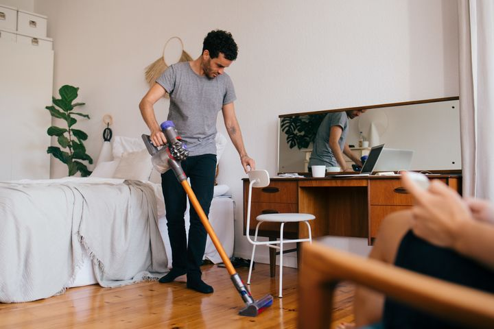 When you scrub hard enough or vacuum briskly enough, cleaning can act as a mini-workout and bring about the same neurochemical benefits as exercise.