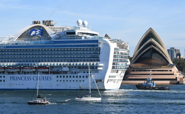 Ruby Princess belonging to cruise ship company Princess Cruises, departs Sydney Harbour with no...