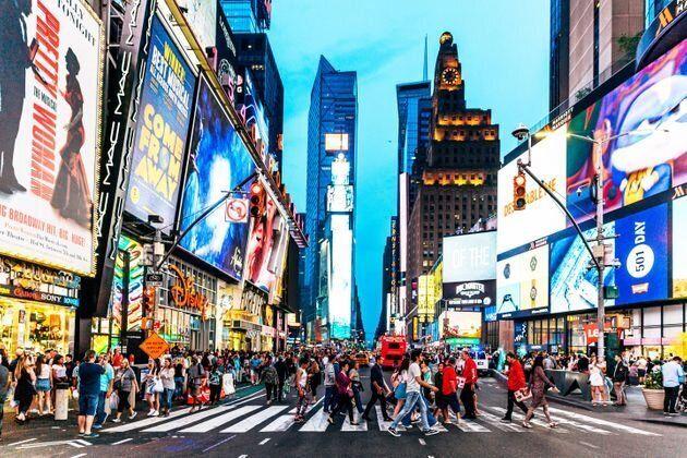 NYのタイムズスクエア