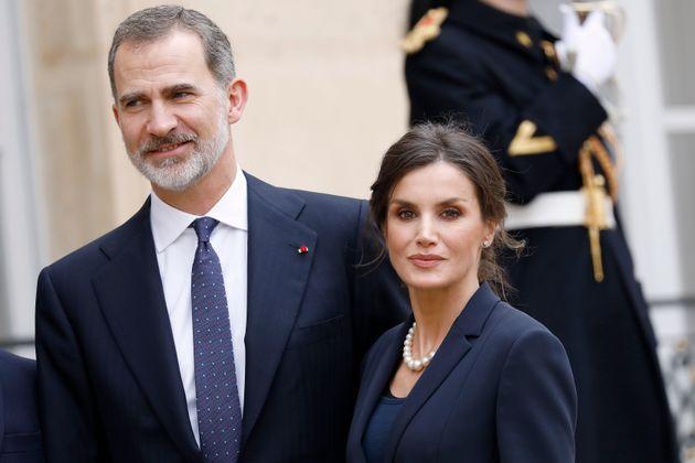 Los reyes Felipe y Letizia, el 11 de marzo de 2020 en París