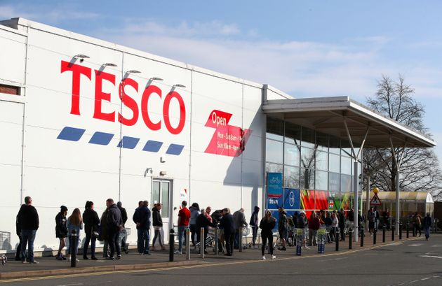 People have been queuing outside supermarkets amid ongoing