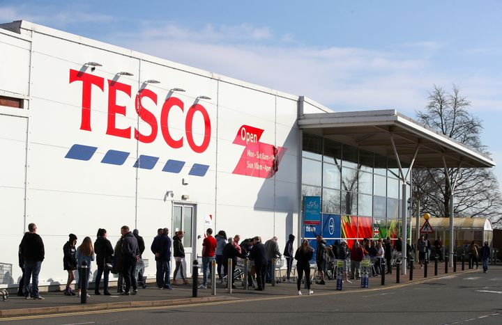 People have been queuing outside supermarkets amid ongoing panic.