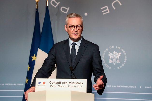 Bruno Le Maire en conférence de presse à Paris le 18