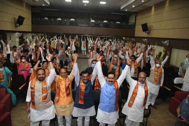 BJP Ignores PM Modi's Social Distancing Advice At Shivraj Singh Chouhan's