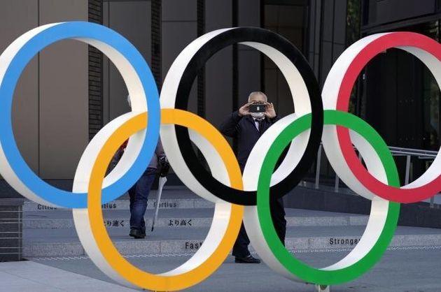 Los aros olímpicos en una imagen de