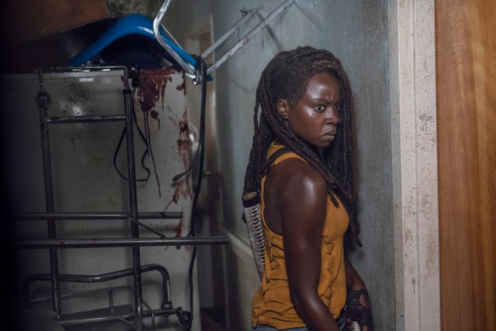 Michonne getting ready to go save Rick again.