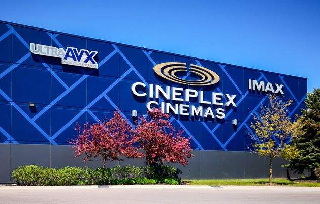 In this file photo, the exterior of a Cineplex cinema is seen in Oakville, Ont., May 20,