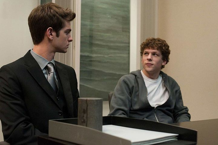 "Andrew Garfield and Jesse Eisenberg in ""The Social Network"""