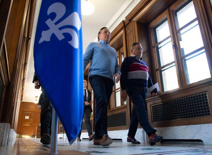 Le premier ministre Francois Legault et le directeur national de santé publique Horacio Arruda