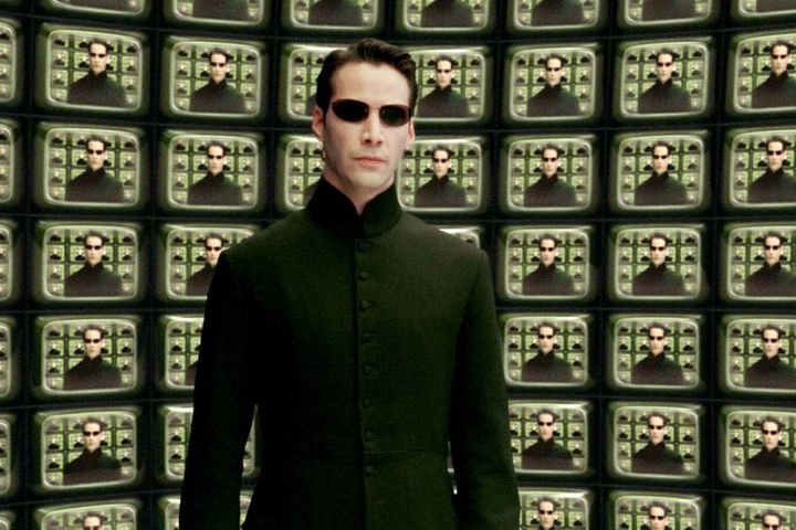 "Keanu Reeves in ""The Matrix Reloaded"""