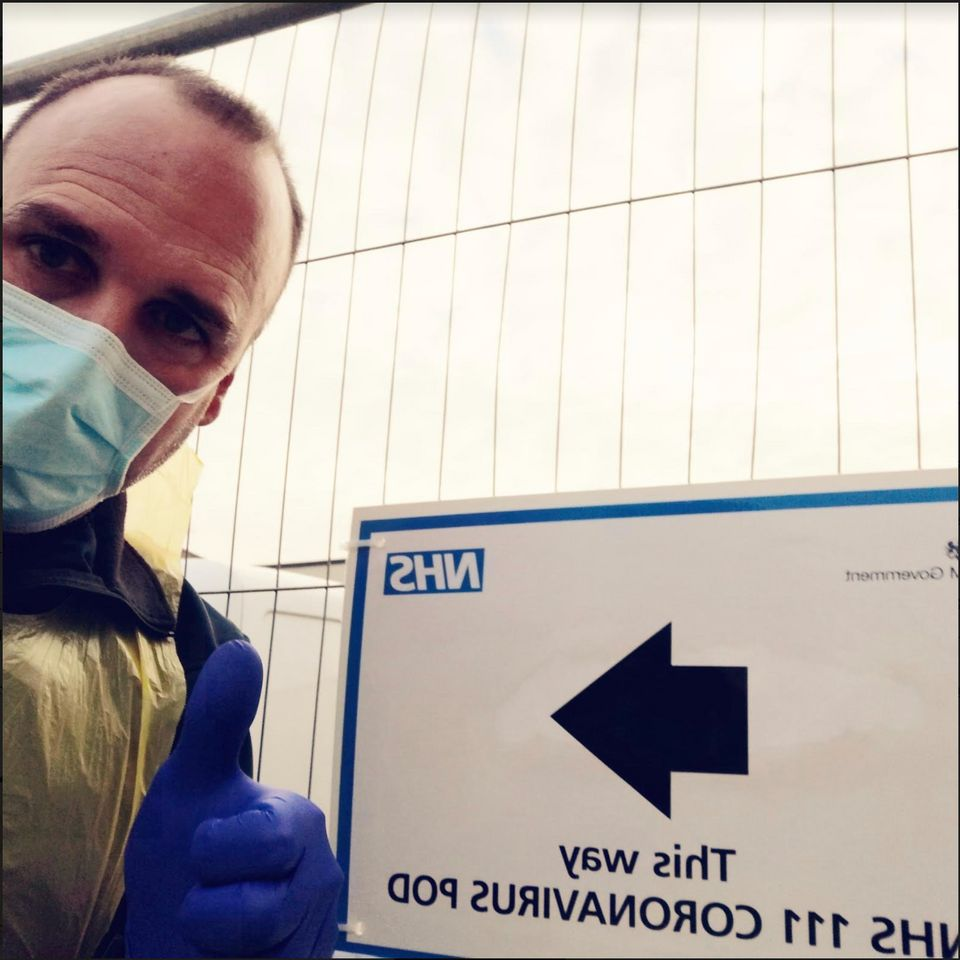 NHS nurse Joan Pons Laplana at a coronavirus testing
