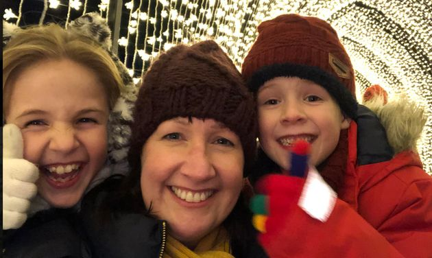 Hannah Graham with her children Charlotte and Matthew