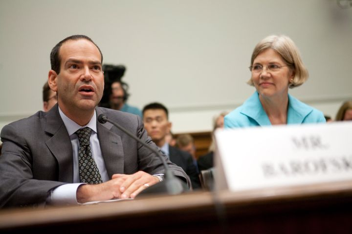 Neil Barofsky and Elizabeth Warren testify at a House Financial Services Committee Hearing in July 2009. Their oversight of t