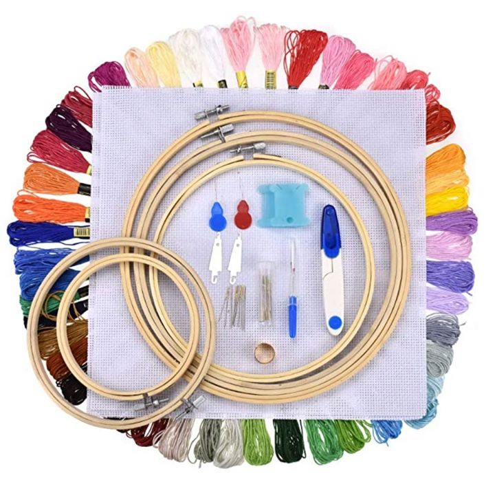 Full range of embroidery starter kit with all the tools you need to complete your first project.