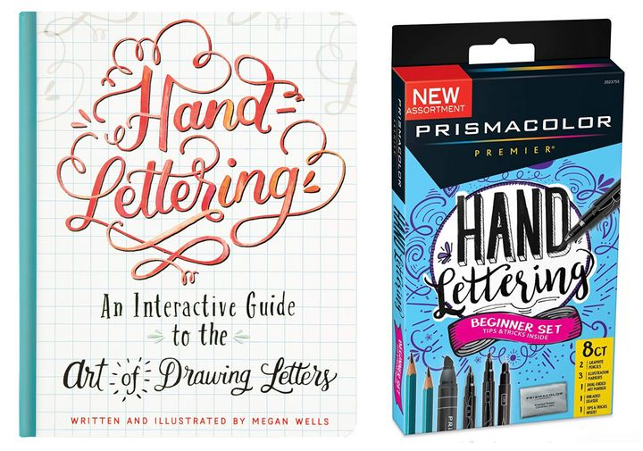 The tools you need to get started with hand-lettering. Items are sold separately.