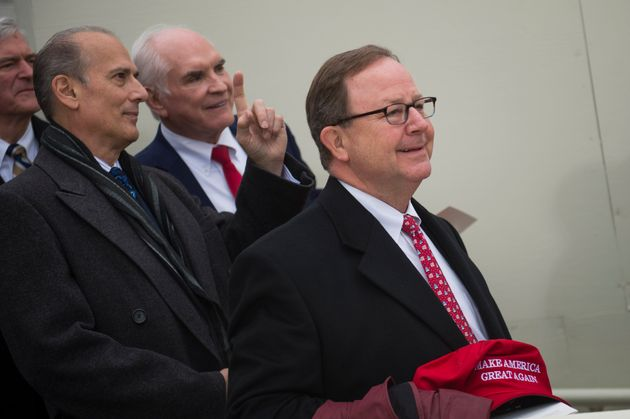 Rep. Bill Flores (R-Texas), right, was one of 14 House lawmakers who signed a letter Friday calling on...