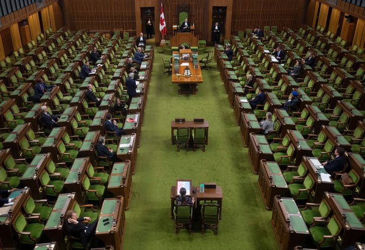 Government House Leader Pablo Rodriguez rises to ask for an extension of the sitting day in the House of Commons Parliament in the House of Commons Tuesday March 24, 2020 in Ottawa.