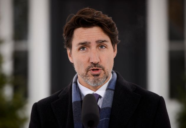 Prime Minister Justin Trudeau addresses Canadians on the COVID-19 situation from Rideau Cottage in Ottawa...