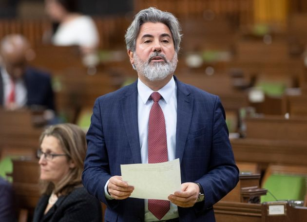 Government House Leader Pablo Rodriguez rises in the House of Commons during a special sitting of Parliament...