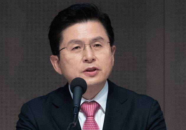 황교안 미래통합당 대표가 25일 오전 서울 중구 프레스센터에서 열린 관훈 토론회에서 발언하고