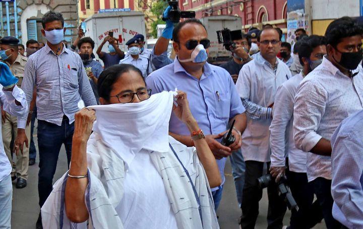 Chief Minister of West Bengal Mamata Banerjee along Kolkata Police Commissioner Anuj Sharma visits hospitals in Kolkata on Tuesday.