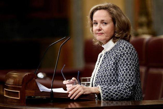 Imagen de archivo de la vicepresidenta y ministra de Asuntos Económicos, Nadia Calviño, en el Congreso...