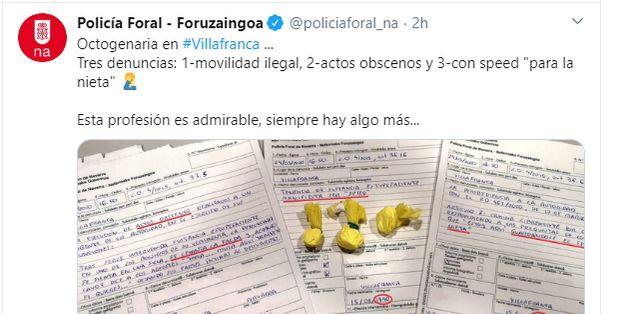 Tuit de la Policía Foral de