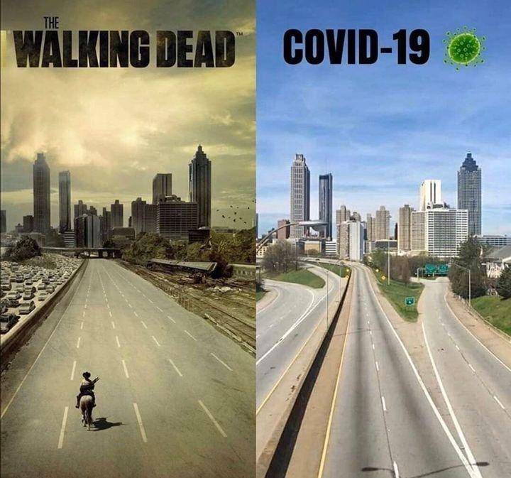 """Montage de la célèbre scène de la série """"The Walking Dead"""""""