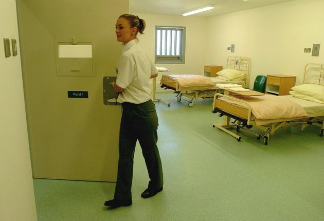 The hospital ward at HMP Bronzefield women's prison