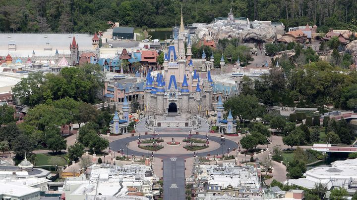 Walt Disney World remains closed to the public due to the coronavirus threat in Orlando, Fla., on March 23, 2020.