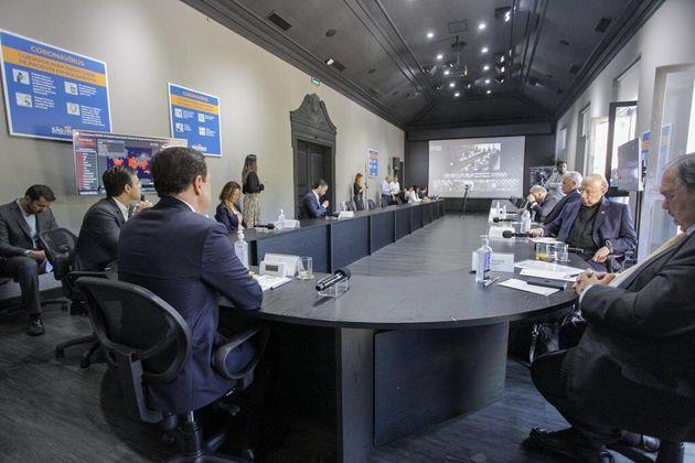 Doria participa de reunião por videoconferência com outros governadores e presidente Jair