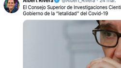 Albert Rivera difunde una noticia del CSIC para atacar al Gobierno y el CSIC la