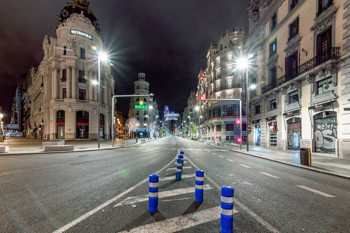 Intersección de la calle Alcalá con Gran Vía