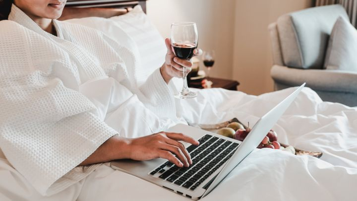 Cozy up to your laptop and get social.