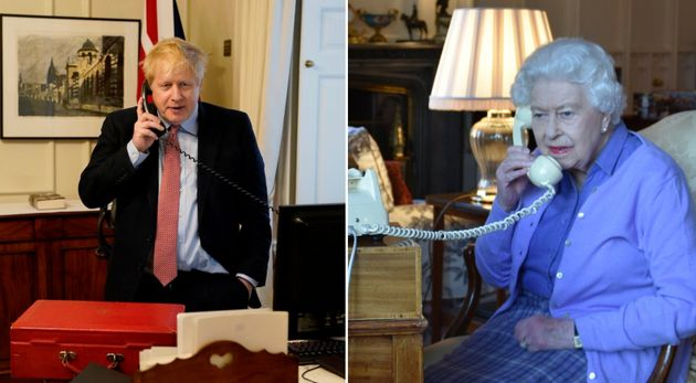 Coronavirus: The Queen And Boris Johnson Pictured Holding Weekly Meeting On