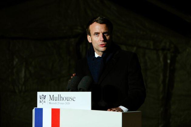 Emmanuel Macron, ici à Mulhouse le 25 mars
