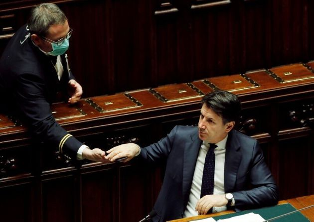 Italian Prime Minister Giuseppe Conte gives an update on the coronavirus outbreak in