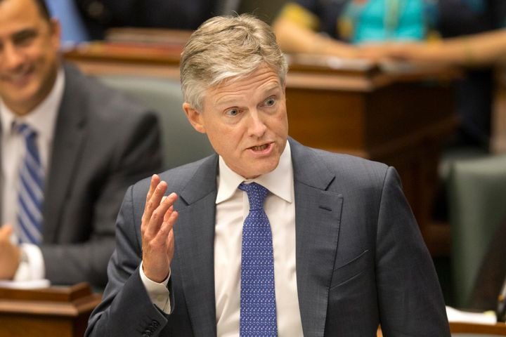 Finance Minister Rod Phillips speaks during question period at the Ontario legislature.