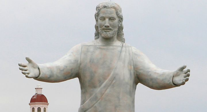 Solid Rock Church is known for its 51-foot tall Jesus statue in Monroe, Ohio.