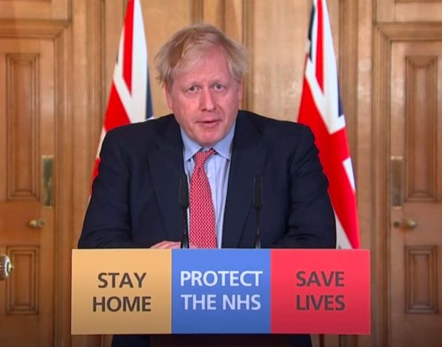 A screengrab taken from PA Video of Prime Minister Boris Johnson speaking during a media briefing at...