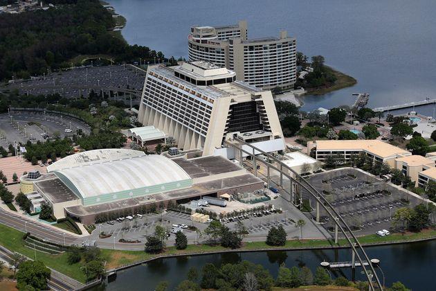 閉鎖された、ディズニー・コンテンポラリー・リゾートホテル(3月23日)