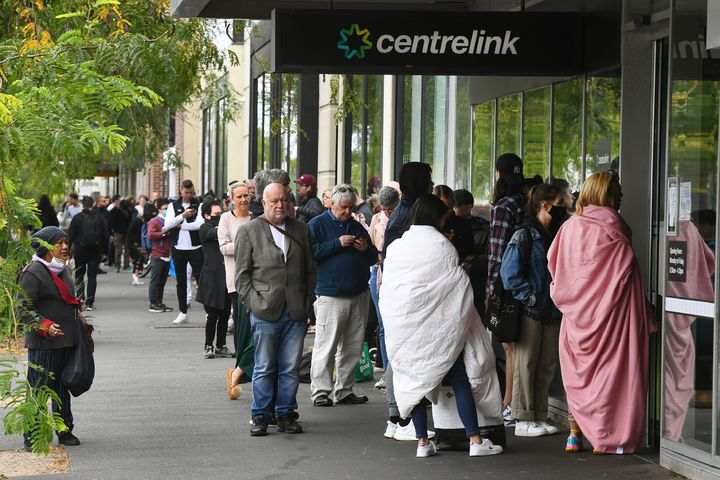 Thousands of people lined up again on Tuesday at Centrelinks around Australia.