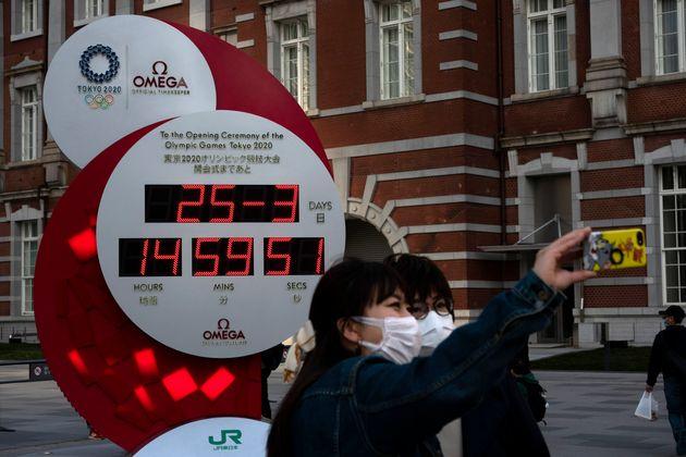 1년 정도의 연기 결정 이후 멈춰 버린 2020 도쿄올림픽 패럴림픽 카운트다운
